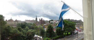 View from Sir Walter Scott Traditional Tea Room